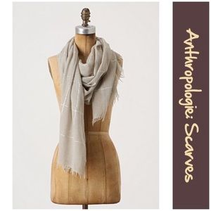 """Anthro """"Gleaming Intersection Scarf"""" Miss Albright"""